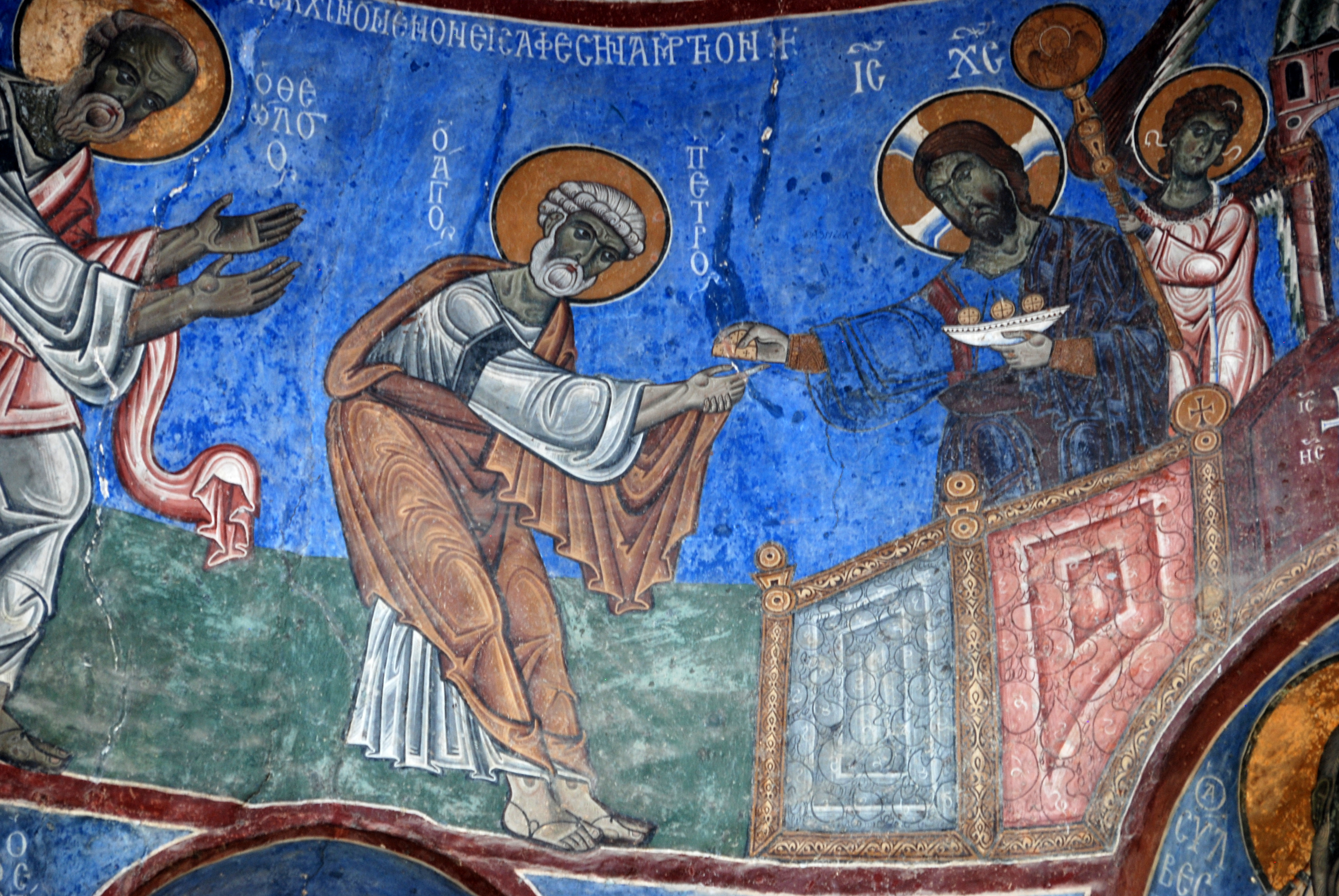 Wall painting, church of the Holy Mother of God, Akhtala, Republic of Armenia, early 13th century. Photo: Anthony Eastmond