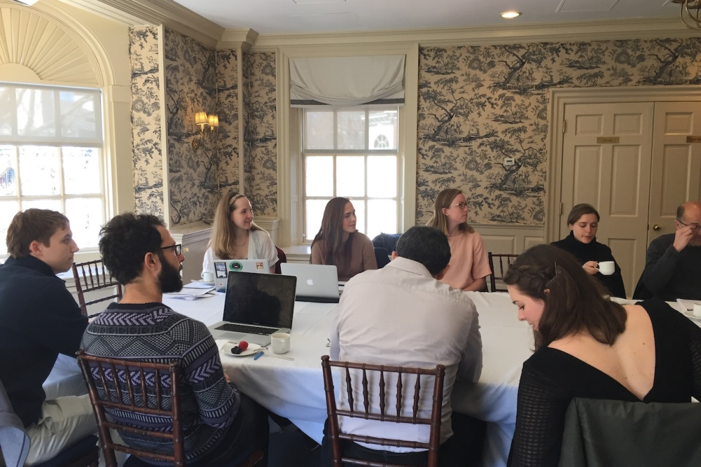 Students at the Studying East of Byzantium workshop.